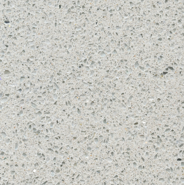 white worktop Silestone Stellar Snow detail