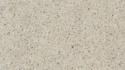 Cream quartz Silestone Blanco City zoomed in detail view of colour.